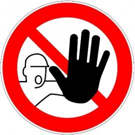 Interdit aux Personnes non Autorisées - Pictogrammes au sol