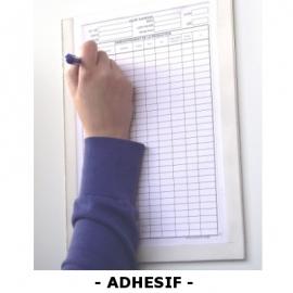 Plexidoc adhésif ouvert à glissière avec fond - Porte-document
