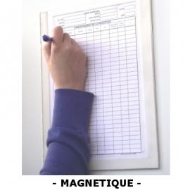 Plexidoc magnétique ouvert à glissière avec fond - Porte-document