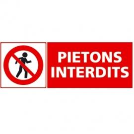 Piétons interdits