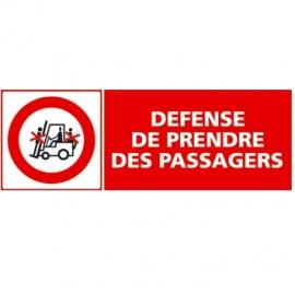 Défense de prendre des passagers