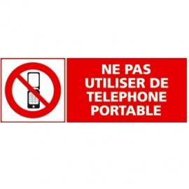 Ne pas utiliser de téléphone portable