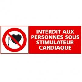 Interdit aux personnes sous stimulateur cardiaque