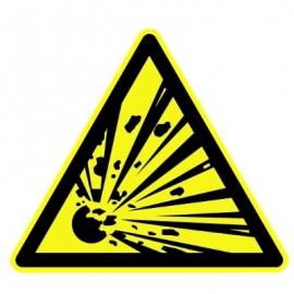 """Panneau Danger triangulaire """"Matières explosives"""""""