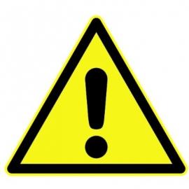 """Panneau Danger triangulaire """"Danger général"""""""