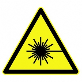 "Panneau Danger triangulaire ""Laser rayonnant"""