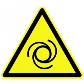 """Panneau Danger triangulaire """"Entrainement mécanique"""""""