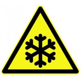 """Panneau Danger triangulaire """"Basse température"""""""