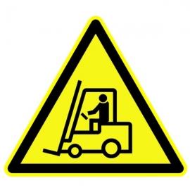 """Panneau Danger triangulaire """"Véhicule de manutention"""""""