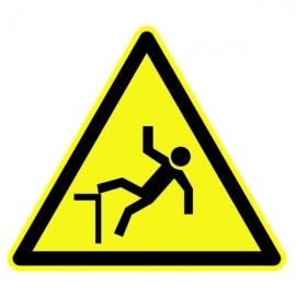 """Panneau Danger triangulaire """"Risque de chute"""""""