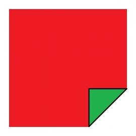 Carré Vert/Rouge Magnétiques Double Face