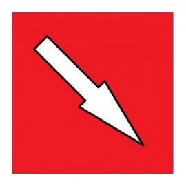 Flèche Rouge magnétique simple face