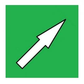 Flèche Verte magnétique simple face