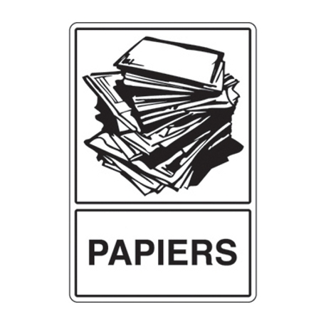 recyclage papiers. Black Bedroom Furniture Sets. Home Design Ideas
