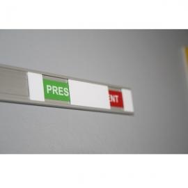 Plaques de porte, modèle Présent/Absent ou Libre/Occupé