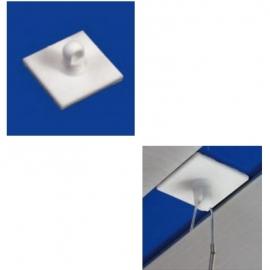 20 Boutons adhésifs carrés avec crochet fermé