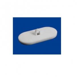 20 Boutons adhésifs ovales avec crochet fermé