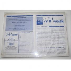 Plexidoc portefeuille adhésif à rabat  - Porte-document