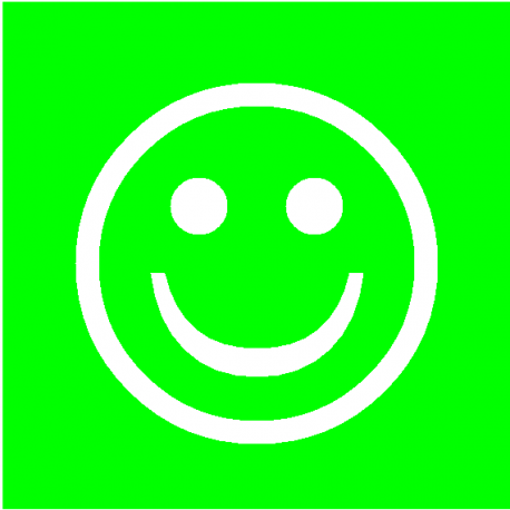 Smiley Vert Simple Face Magn 233 Tique