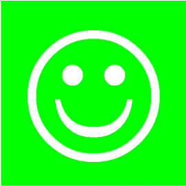 Smiley Vert simple face magnétique