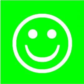 Smiley Vert simple face magnétique