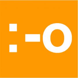 Smiley Web Orange simple face magnétique