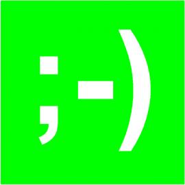 Smiley Web simple face magnétique