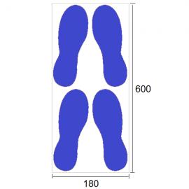 Empreintes de pas - Marquage au sol