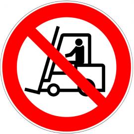 Chariot élévateur interdit - Pictogrammes au sol