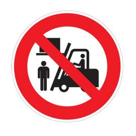 Circulation sous charge interdite - Pictogrammes au sol