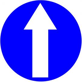 Flèche tout droit obligatoire - Pictogrammes au sol
