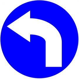 Circulation à gauche - Pictogrammes au sol