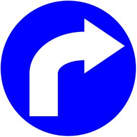 Circulation à droite - Pictogrammes au sol