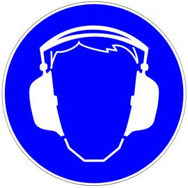 Protection auditive obligatoire - Pictogrammes au sol