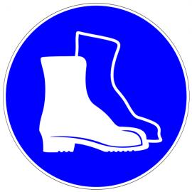Protection des pieds obligatoire - Pictogrammes au sol