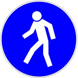 Piéton passage obligatoire - Pictogrammes au sol