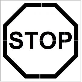 """Pochoir """"Stop"""" - Pictogramme au sol"""