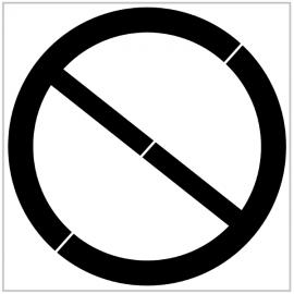"""Pochoir """"Stationnement interdit"""" -  Pictogramme au sol"""