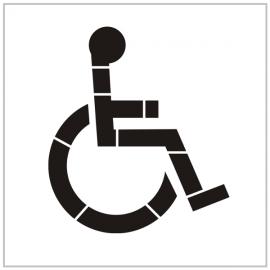 """Pochoir """"Place réservé aux personnes handicapées"""" - Pictogramme au so"""
