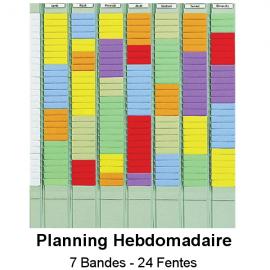 Planning à fiches en T Hebdomadaire