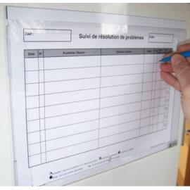 Plexidoc portefeuille à fenêtre pour 12 documents - Fixation magnétique - Porte-document