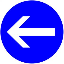 Obligation de tourner avant panneau