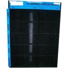Planning Expédition Akilux Noir avec coffrage PVC Noir