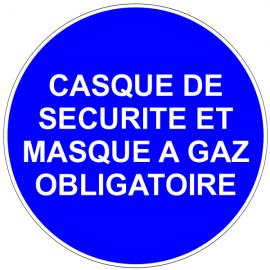 Casque de sécurité et masque à gaz obligatoires