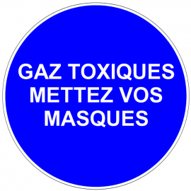 Gaz toxiques - Mettez vos masques