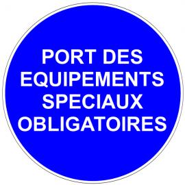 Port des équipements spéciaux obligatoires