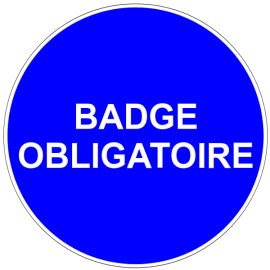Badge obligatoire