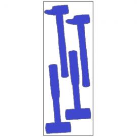Silhouettes outils adhésives - Marteau et maillet