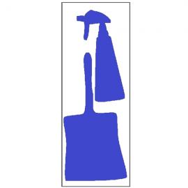 Silhouettes outils adhésives - pelle et vaporisateur