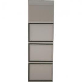 Tableau QCD PVC 325x1050 avec 4 plexidocs
